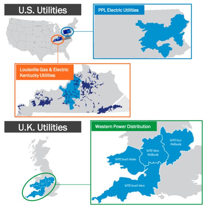 PPLコーポレーションのエネルギー提供地域