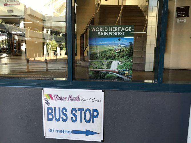 ケアンズセントラルステーションのバス停